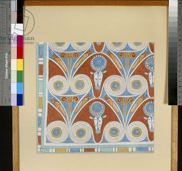 Copy of an Egyptian ceiling pattern (egg tempera on board)