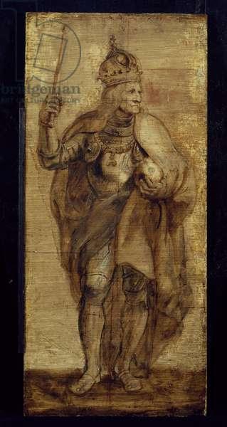Maximilian I, King of Germany and Holy Roman Emperor, 17th century (oil on panel)
