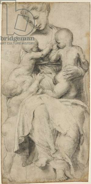 Charity, WA1846.294 (black chalk with very few touches of white heightening rubbed in)