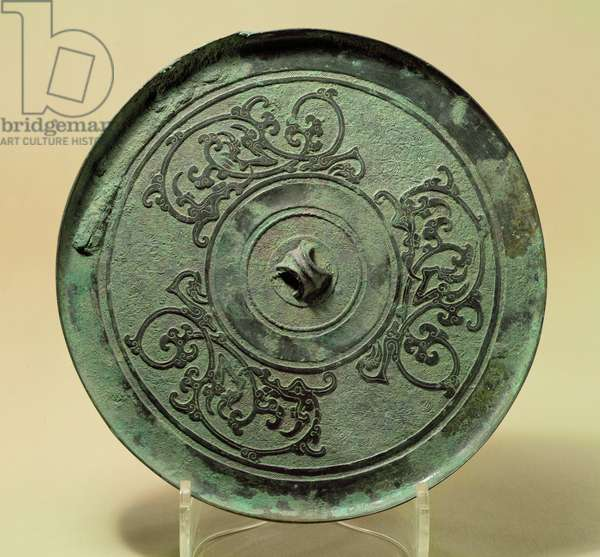 Mirror with Interlacing Dragons, Eastern Zhou Dynasty, Warring States period, 475-221 BC (bronze)