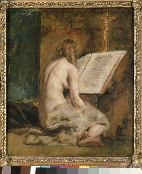 The Penitent Magdalen (oil on panel)