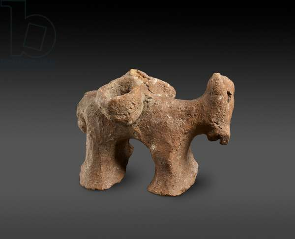 Prehistoric model of a donkey with Panniers, Cyprus (terracotta)