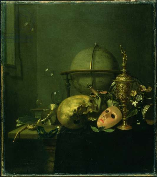 Still Life with a Mask (oil on canvas)