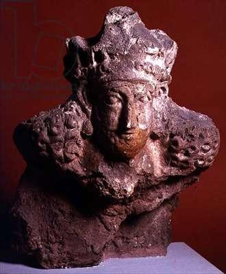 Head of a Sasanian King, possibly Bahram (c.420-438) Kish, Iraq (plaster)