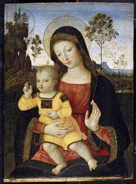 The Virgin and Child, 15th century (oil on panel)