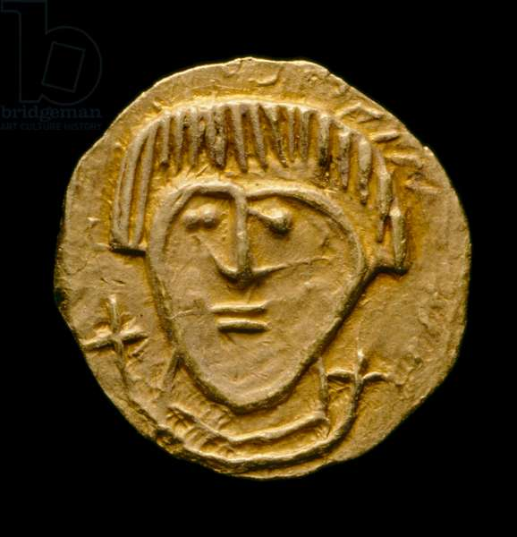 Crondall coin no. 59, Anglo-Saxon Coin from the Crondall Hoard, Crondall, Hampshire (gold)
