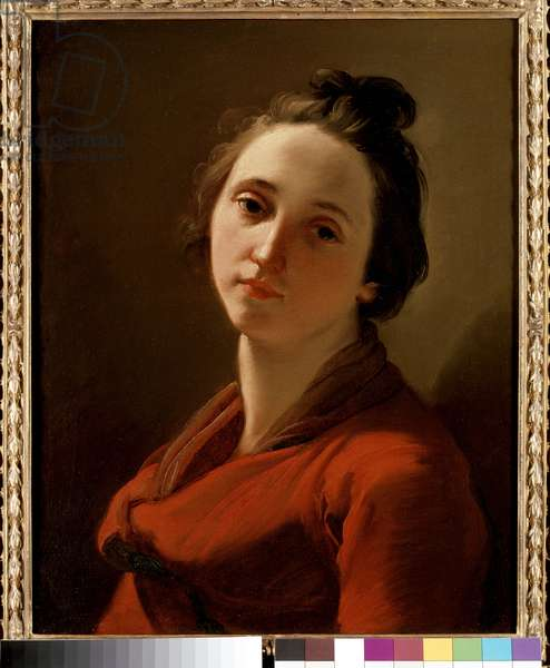 Portrait of a Young Woman, Thought to be the Artist's Wife, 18th century (oil on canvas)