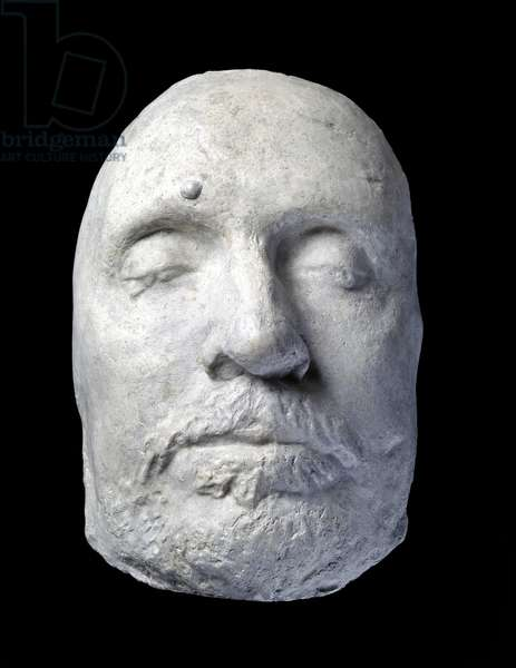 Death Mask of Oliver Cromwell, 1658 (plaster)