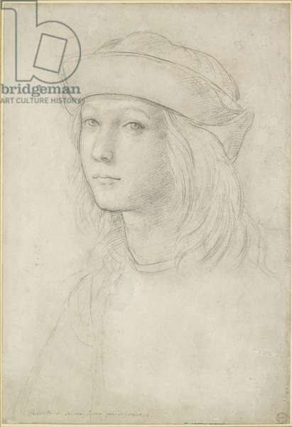 Portrait of an unknown youth, possibly a self-portrait, WA1846.158 (black chalk with white heightening)
