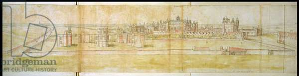 Hampton Court, 1556 (pen and ink on paper)