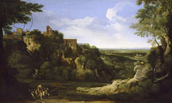 View of Tivoli with Rome in the Distance, 17th century (oil on canvas)