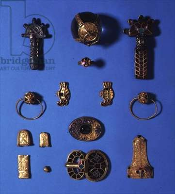 Assemblage from Picquigny, Amiens, Somme, Carolingian, probably c.7th century