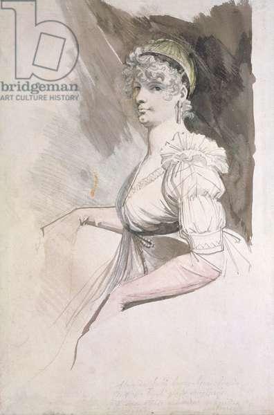Portrait of Mrs Fuseli, c.1798 (w/c over pencil on paper)