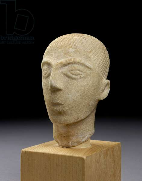 Head of a Cycladic figure, Amorgos, c.2000 BC (marble)