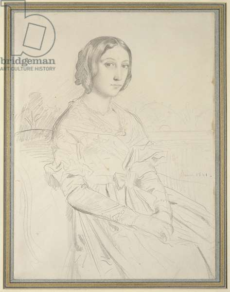 Portrait of a Young Woman, 1841 (pencil on paper)