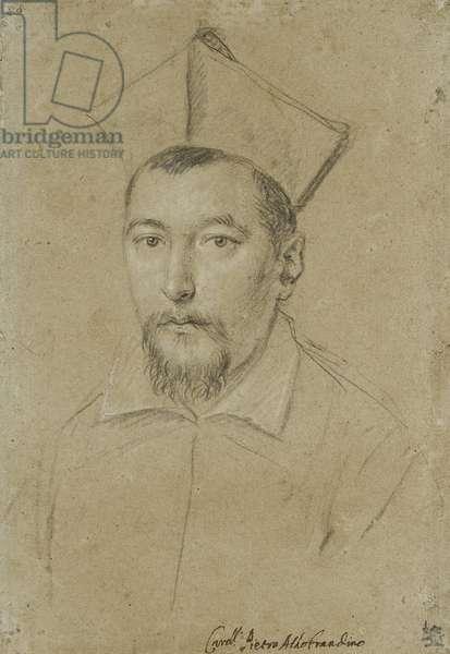 Portrait of Cardinal Pietro Aldobrandini (black chalk, heightened with white on drab, blue-grey paper)