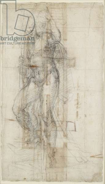 Study of the Resurrection of Christ, c.1532 (chalk on paper)