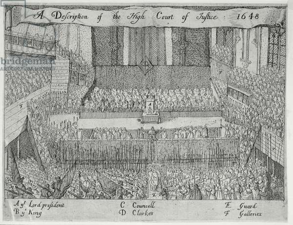 A Description of the High Court of Justice (The Trial of Charles I), 17th century (engraving)