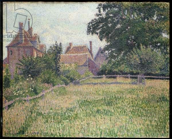 La Maison de la Sourde, Éragny, 1886 (oil on canvas)