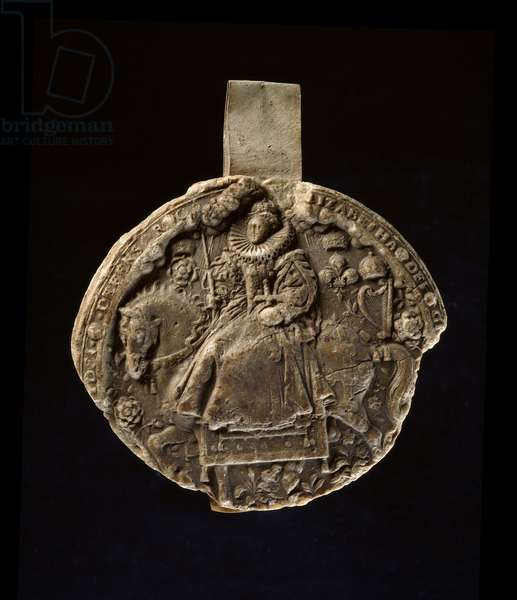 Impression made from the reverse of Queen Elizabeth I's Second Great Seal (wax)