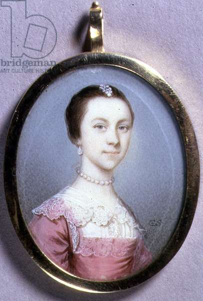 Portrait Miniature of Rachael Chumley, c.1749 (w/c on ivory on card)