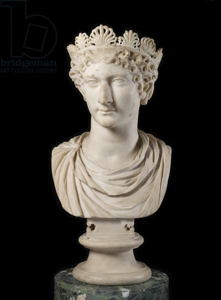 Head of Agrippina Minor with diadem (marble)