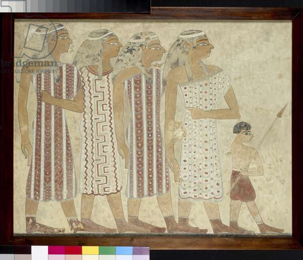 Semite Women, copy of an Egyptian tomb painting (egg tempera on panel)