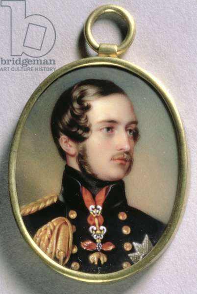Portrait Miniature of Prince Albert, 1842 (w/c on enamel on gold)