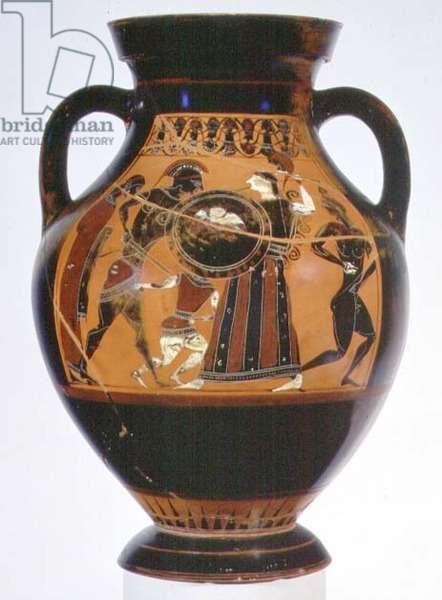 Black-figure amphora, depicting Cassandra and Ajax, c.540 BC (pottery)