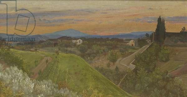 View of Monte Amiata, Tuscany, c.1880 (oil on panel)