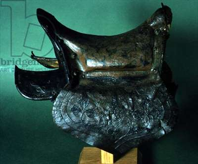 Tartar Saddle, probably 16th-17th century (painted leather)
