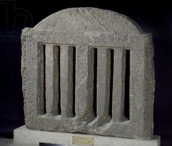 Limestone lattice for a window (limestone)