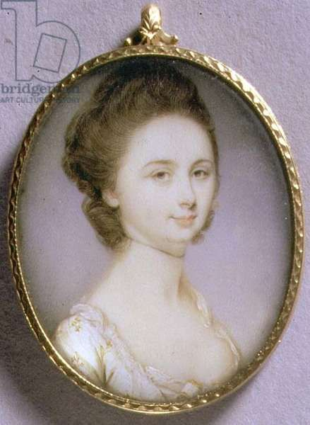 Portrait Miniature of a Lady in a White Dress, c.1780-85 (w/c on ivory)