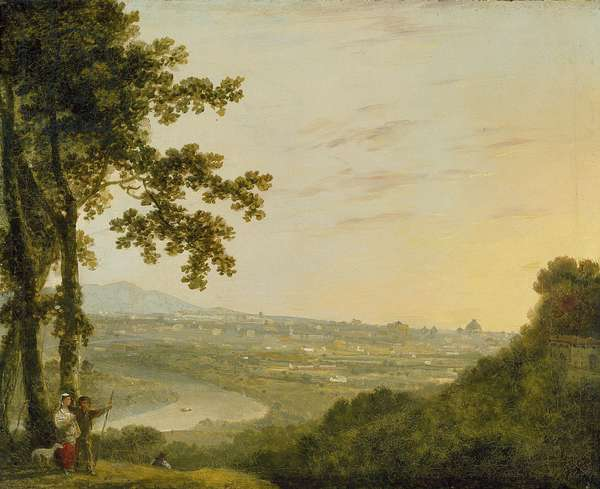 Rome from the Villa Madama, during or post 1753 (oil on canvas)
