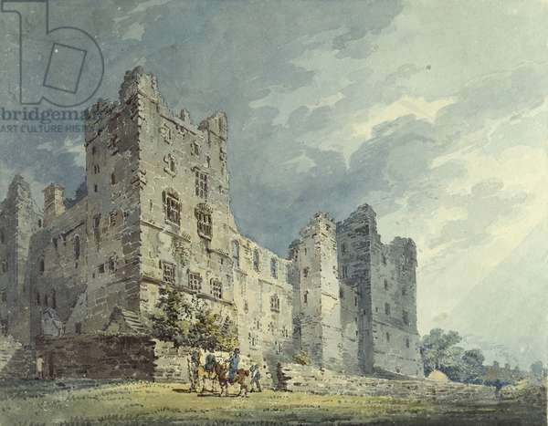 Bolton Castle, Yorkshire (watercolour over indications in graphite)