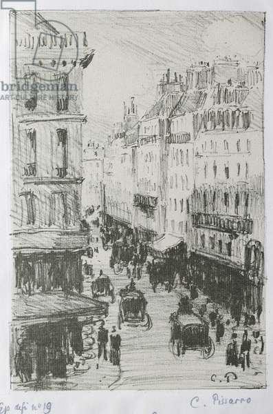 Rue Saint-Lazare, Paris, 1897 (lithograph on zinc)