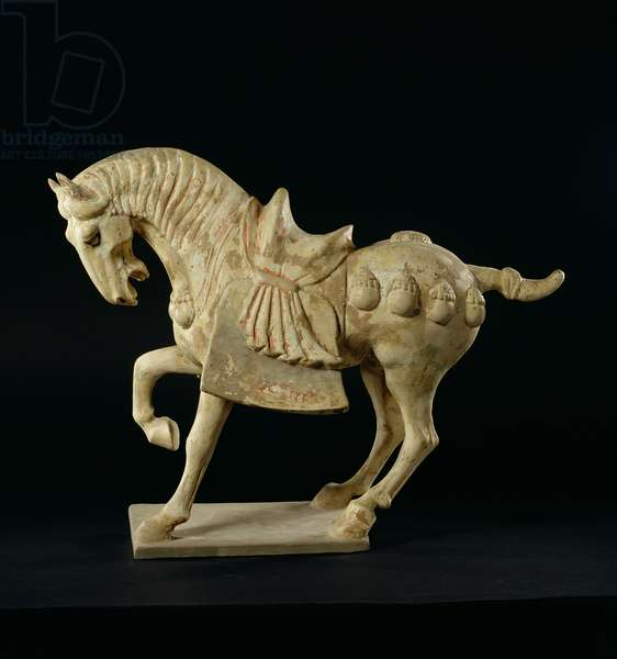 Horse, Chinese, Tang Dynasty, c.618-906 AD (pottery)
