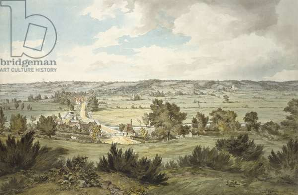 The Valley of the Stour, 19th century (w/c on paper)