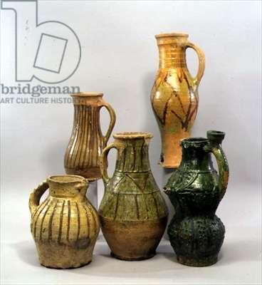 Jugs, probably c.8th-10th century (glazed earthenware)