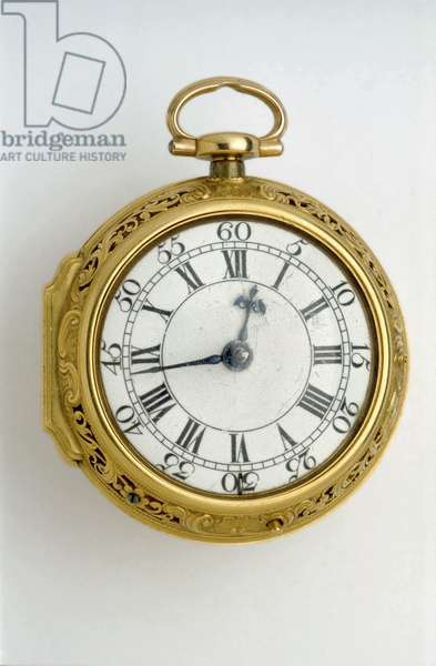 Gold pair-cased cylinder watch with quarter repeat, 1744 (gold) (see also 1217831)
