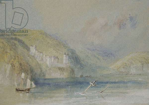 The Seine near Tancarville, c.1832 (w/c with gouache and pen & ink on paper)
