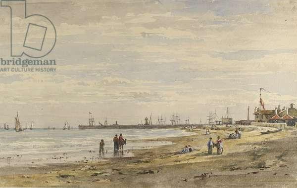 Ramsgate Pier, August 1838 (watercolour on paper)