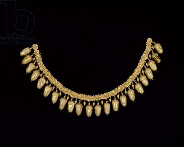 Acorn necklace, from Grave IV at Nymphaeum in the Crimea, 5th century BC (gold)