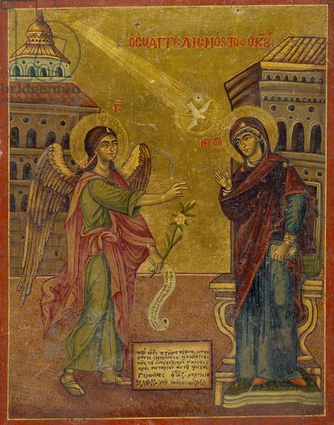 Icon of The Annunciation by John, 18th-19th century (oil on canvas on panel)