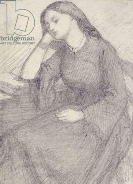 Portrait of Elizabeth Siddal, seated (graphite on paper)