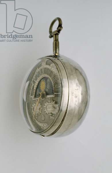 Side view of a pair-cased verge watch, c.1685 (silver)