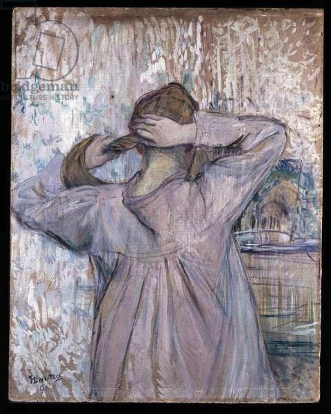 La Toilette, 1891 (oil on paper on card)