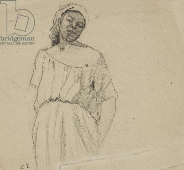 Study of a Negress (charcoal on paper)