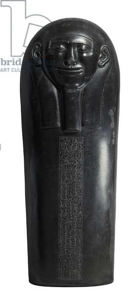 Lid of sarcophagus of Ptah-hotep, 2575 - 2040 BC (black basalt)