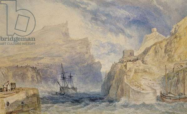 Boscastle, Cornwall, c.1824 (watercolour over graphite with pen and black ink)